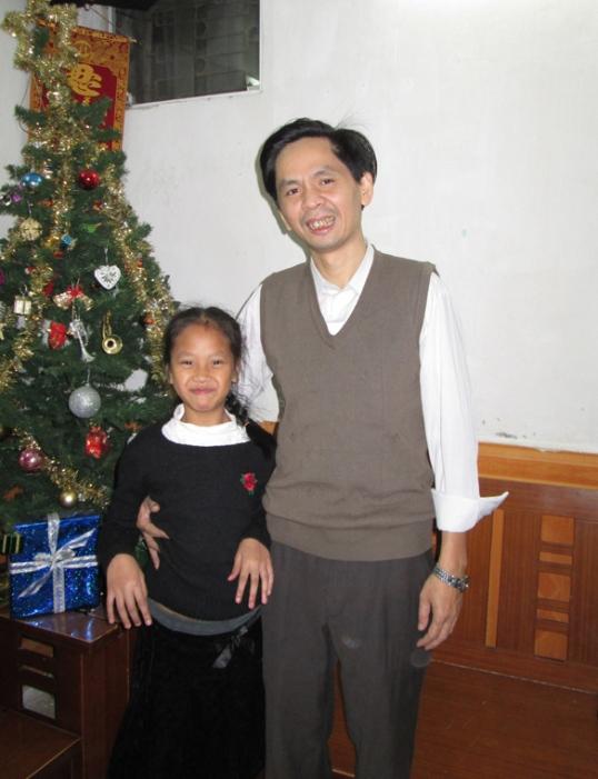 Vui vẻ cùng con gái Quỳnh Chi