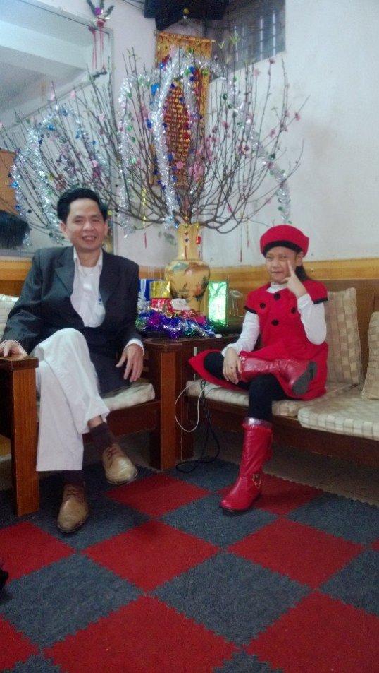 bố Đăng và Quỳnh Chi đón xuan 2014